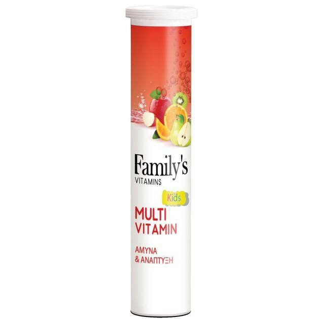 Δώρο Power Health Family\'s Vitamins MultiVitamin Kids Παιδική Πολυβιταμίνη για Άμυνα & Ανάπτυξη 20Effer.tabs