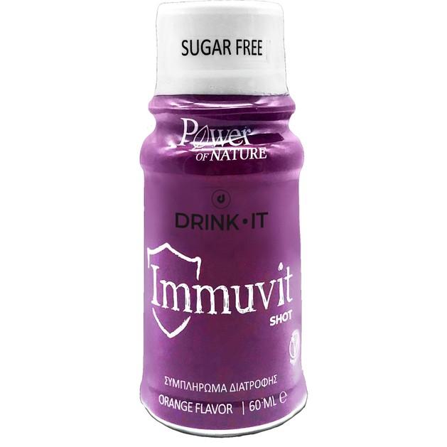 Power Health Drink It Immunvit Shot Συμπλήρωμα Διατροφής για την Ενίσχυση του Ανοσοποιητικού με Γεύση Πορτοκάλι 60ml