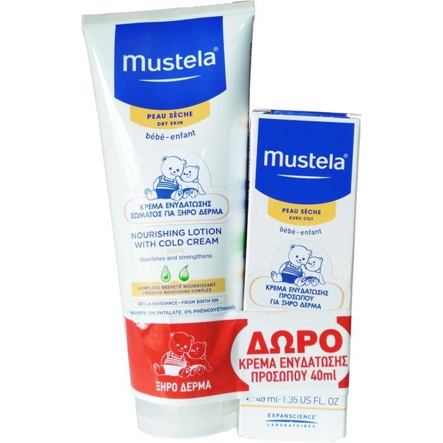 Mustela Πακέτο Προσφοράς Nourishing Lotion With Cold Cream 200ml & Δώρο Nourishing Cream with Cold Cream 40ml