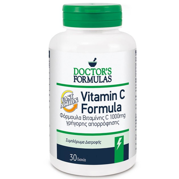 Doctor\'s Formulas Vitamin C 1000mg Formula Fast Action 30caps