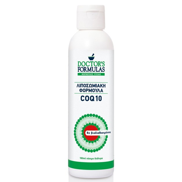 Doctor\'s Formulas Λιποσωμιακή Φόρμουλα COQ 10 Συμπλήρωμα Διατροφής για την Καλή Λειτουργία του Οργανισμού 180ml