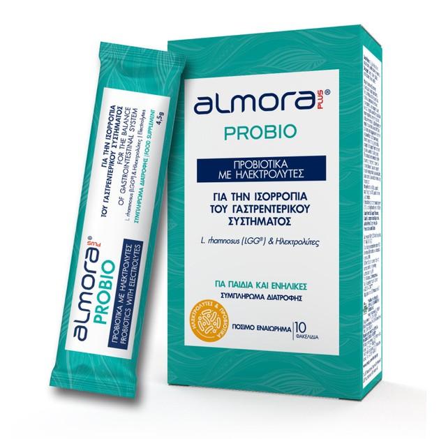 Almora Plus Probio Συμπλήρωμα Διατροφής Προβιοτικών με Ηλεκτρολύτες για την Ισορροπία του Γαστρεντερικού Συστήματος 10 Oral.Sach