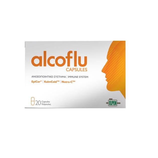 Elpen Alcoflu Συμπλήρωμα Διατροφής για την Προστασία των Κυττάρων από Οξειδωτικό Στρες & την Ενίσχυση του Ανοσοποιητικού 20 caps