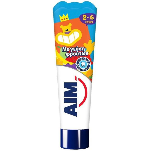 Aim Παιδική Οδοντόκρεμα με Γεύση Φρούτων 2-6 Ετών 50ml