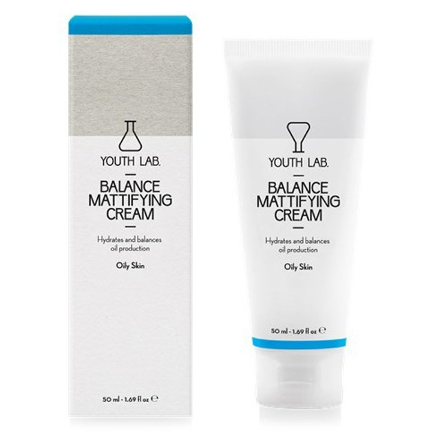 YOUTH LAB. Balance Mattifying Cream Oily Skin Ρυθμιστική, Αντιοξειδωτική Ενυδατική Κρέμα για Λιπαρό Δέρμα με Τάση Ακμής 50ml