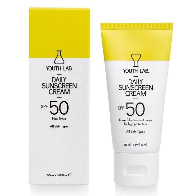Youth Lab Daily Sunscreen Cream Spf50 Non Tinted Αντηλιακή Κρέμα Υψηλής Προστασίας με Ισχυρή Αντιοξειδωτική Δράση 50ml
