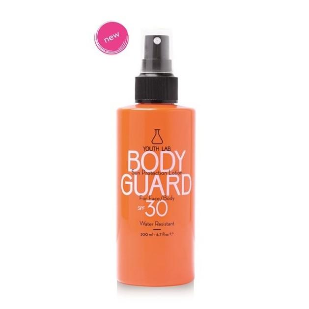 Youth Lab Body Guard Sun Protection Lotion Spf30 Αντηλιακό Αδιάβροχο Spray Προσώπου-Σώματος Υψηλής Προστασίας 200ml