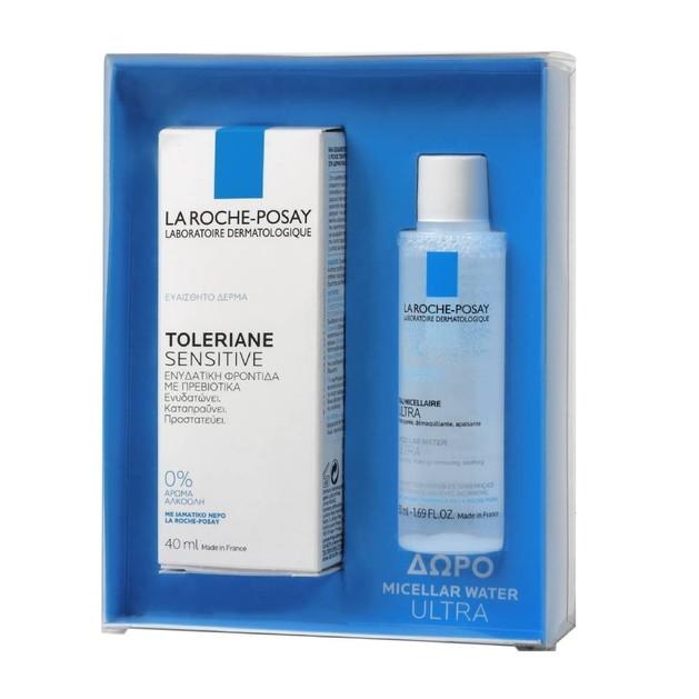La Roche-Posay Πακέτο Προσφοράς Toleriane Sensitive Prebiotic Moisturizer 40ml & Δώρο Micellar Water Ultra 50ml