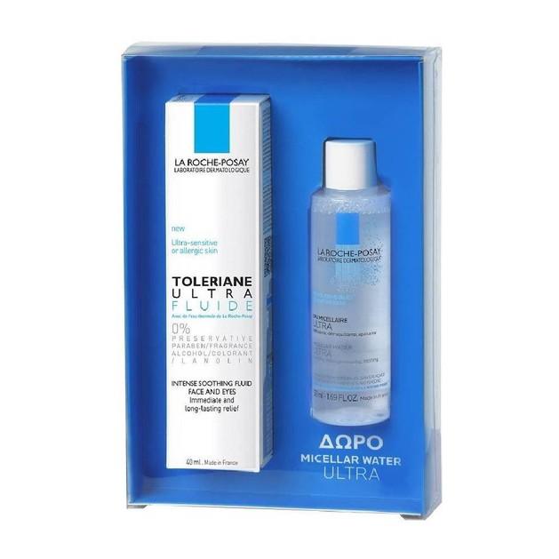 La Roche-Posay Πακέτο Προσφοράς Toleriane Ultra Fluid 40ml & Δώρο Micellar Water Ultra για Πρόσωπο - Μάτια - Χείλη 50ml