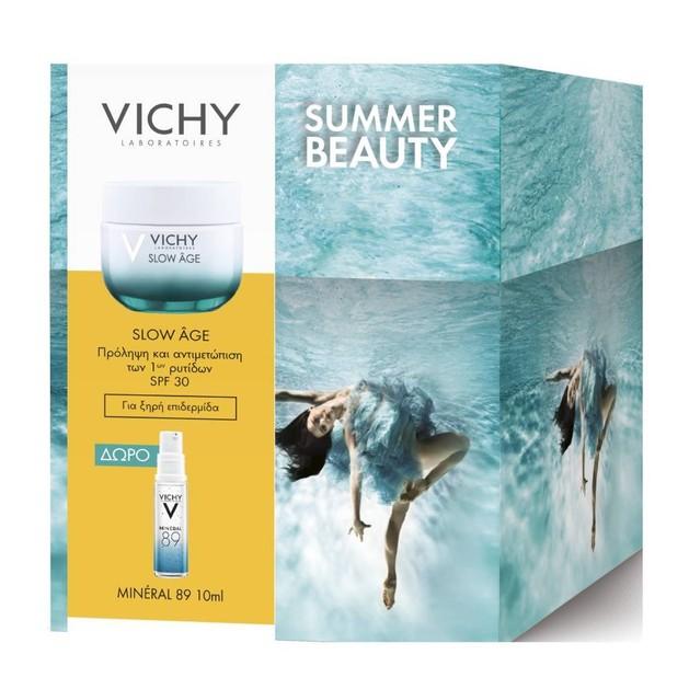 Vichy Πακέτο Προσφοράς Slow Age Cream Balm Spf30 για Ξηρή Επιδερμίδα 50ml & Δώρο Mineral 89 Booster 10ml