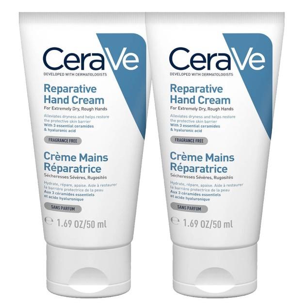 CeraVe Πακέτο Προσφοράς Reparative Hand Cream Επανορθωτική Κρέμα Χεριών για Πολύ Ξηρά, Τραχιά Χέρια 2x50ml