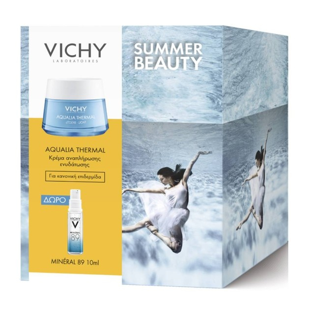 Vichy Πακέτο Προσφοράς Aqualia Thermal Legere Rehydrating Cream για Κανονική Επιδερμίδα 50ml & Δώρο Mineral 89 Booster 10ml