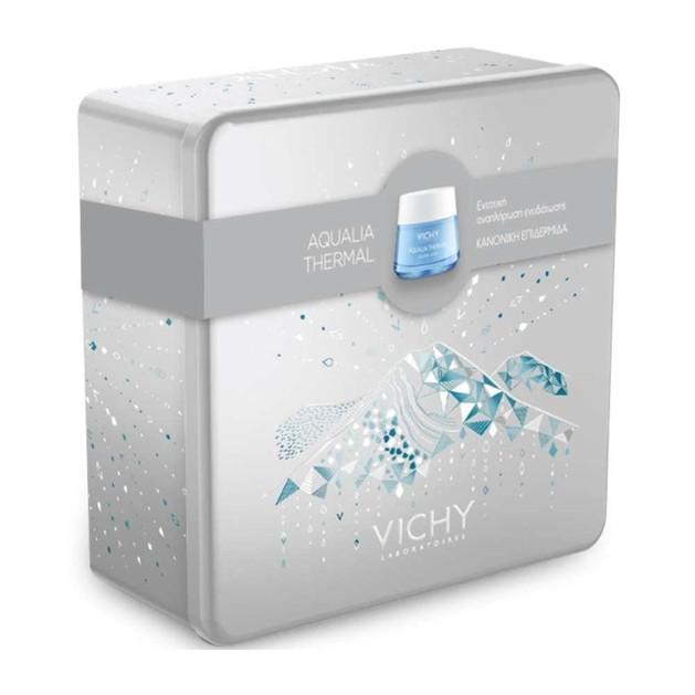 Vichy Promo Aqualia Thermal Rehydrating Light Cream Λεπτόρρευστη Κρέμα Ενυδάτωσης Κανονικές/Μικτές Επιδ/δες Μεταλλικό Κουτί 50ml