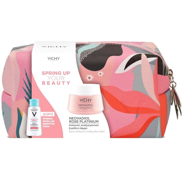 Vichy Promo Spring Up Your Beauty με Neovadiol Rose Platinium 50ml & Mineral Micellar Sensitive 100ml & Νεσεσέρ