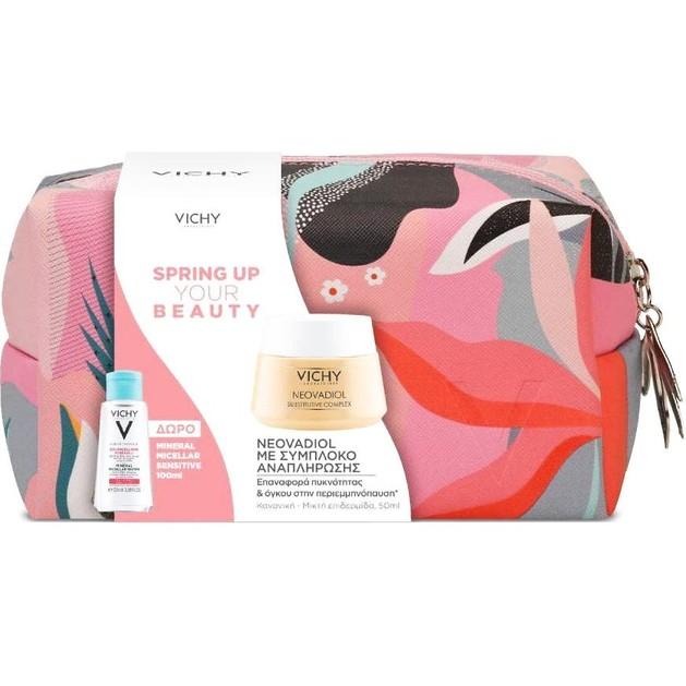 Vichy Promo Spring Up Your Beauty Neovadiol 50ml & Mineral Micellar Sensitive 100ml & Νεσεσέρ
