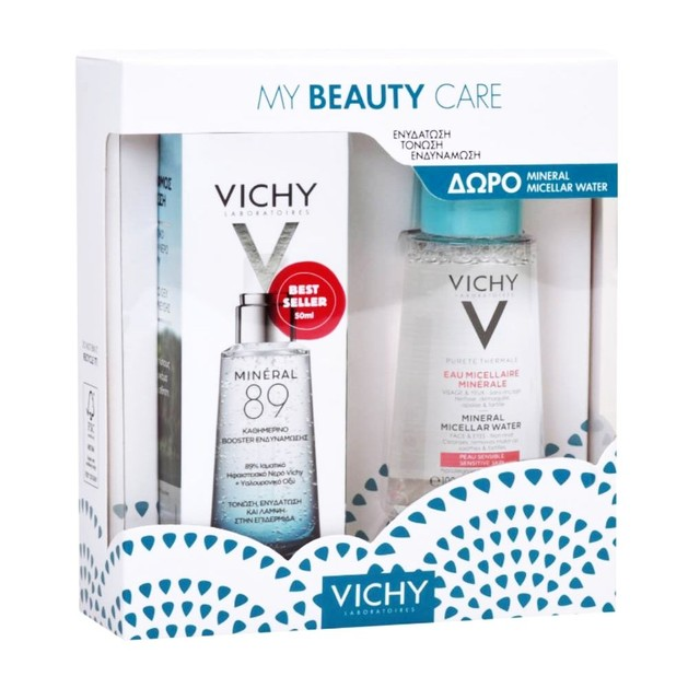 Vichy Promo My Beauty Care Mineral 89 Booster Ενυδάτωσης 50ml & Mineral Micellar Water for Sensitive Skin 100ml