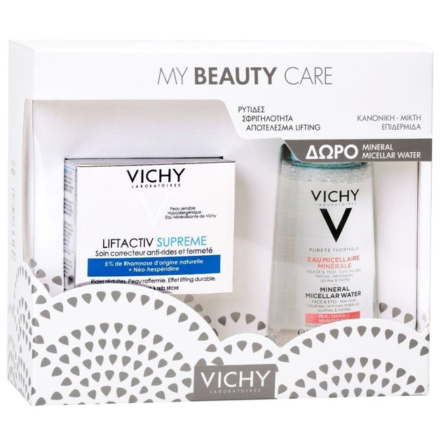 Vichy Promo Liftactiv Supreme για Κανονικές Μικτές Επιδερμίδες 50ml & Mineral Micellar Water για Ευαίσθητες Επιδερμίδες 100ml