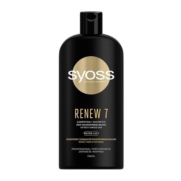 Syoss Shampoo Renew 7 Σαμπουάν για Πολύ Ταλαιπωρημένα Μαλλιά 750 ml