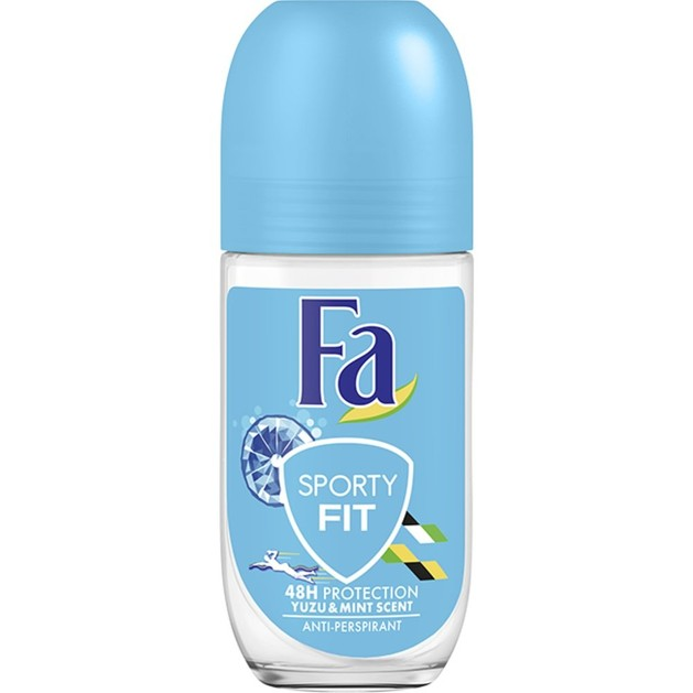 Fa Deodorant Roll-On Sporty Fit 48H Αποσμητικό 48ωρης Προστασίας από την Εφίδρωση & την Κακοσμία με Αντιβακτηριδιακή Δράση 50ml