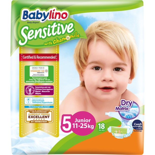Babylino Sensitive Carry Pack Junior Νο5 (11-25kg) 18 Πάνες