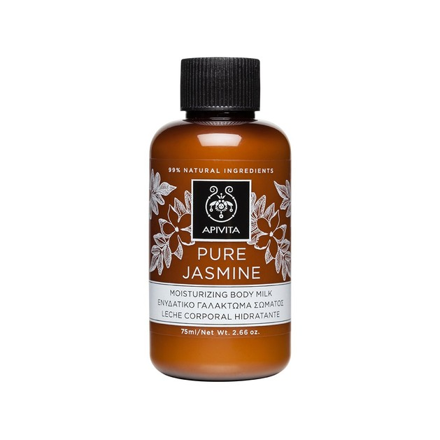 Apivita Pure Jasmine Body Milk Ενυδατικό Γαλάκτωμα Σώματος με Γιασεμί για Τόνωση & Αναζωογόνηση 75ml