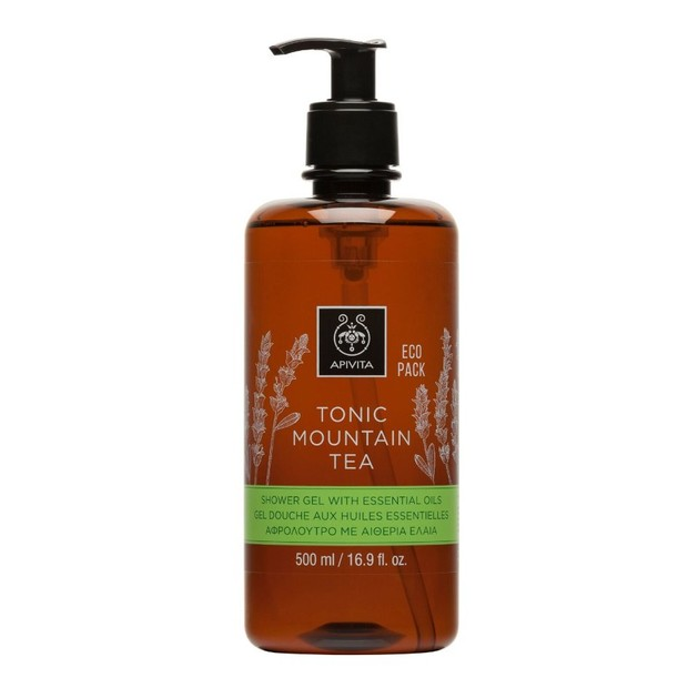 Apivita Tonic Mountain Tea Shower Gel With Essential Oils 500ml