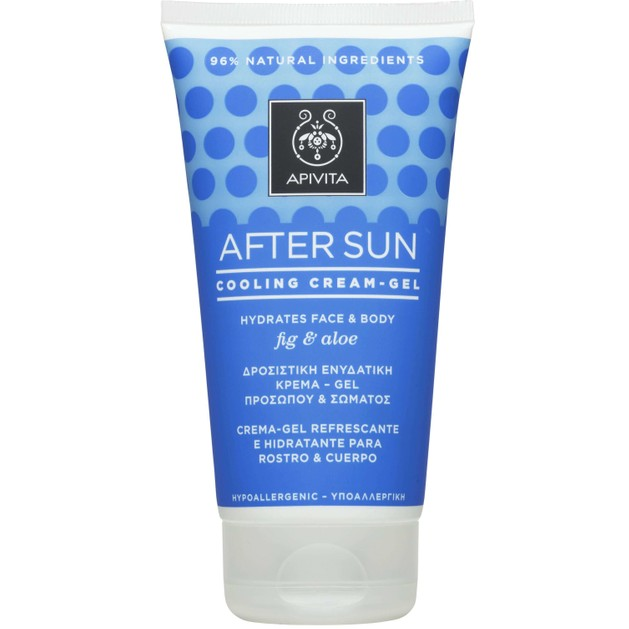 Apivita After Sun Cooling Cream Gel Face-Body With Fig & Aloe