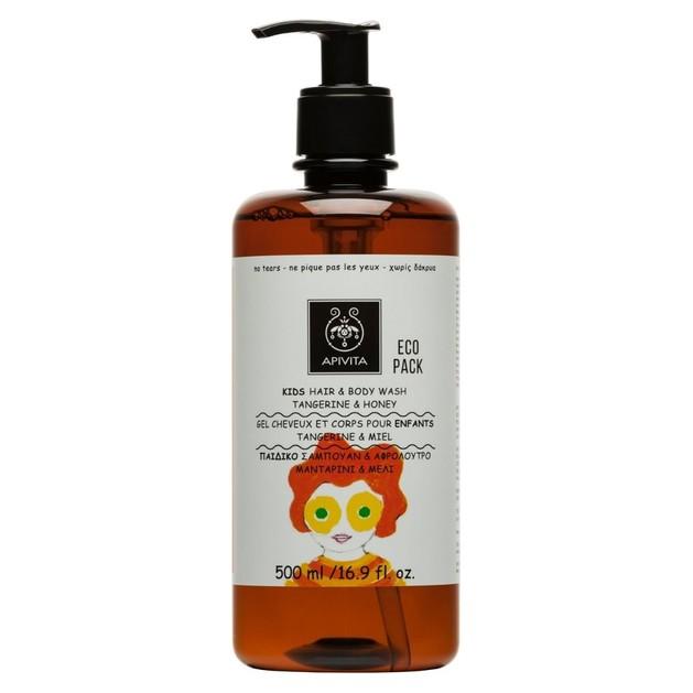 Apivita Kids Hair & Body Wash With Honey & Tangerine Παιδικό Σαμπουάν & Αφρόλουτρο με Μέλι & Μανταρίνι 500ml