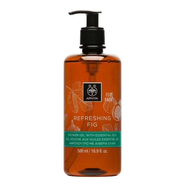 Apivita Refreshing Fig Shower Gel With Essential Oils 500ml
