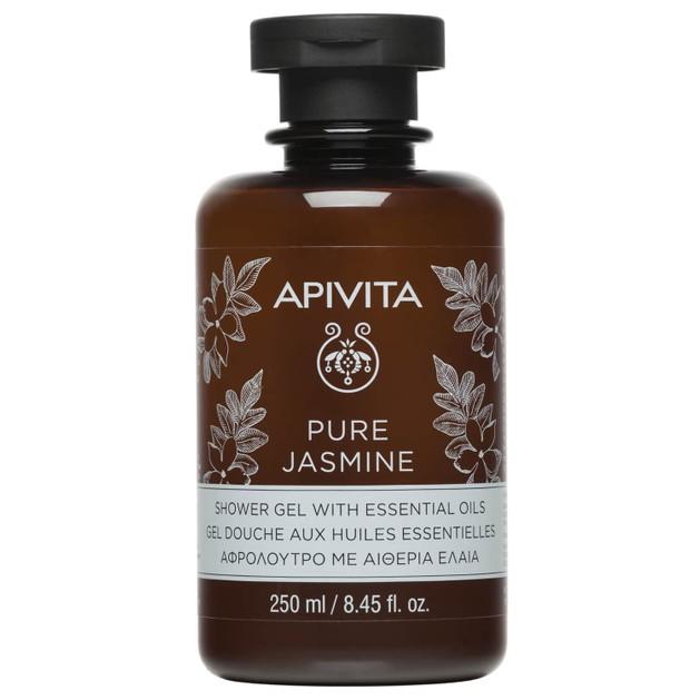 Apivita Pure Jasmine Shower Gel With Essential Oils Ενυδατικό Αφρόλουτρο με Αιθέρια Έλαια για Θρέψη της Επιδερμίδας 250ml