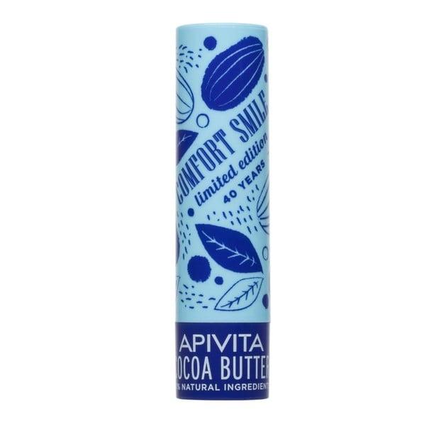 Apivita Lip Care Limited Edition Cocoa Butter Spf20 Ενυδατικό Προστατευτικό Lip Balm Χειλιών με Βούτυρο Κακάο 4.4g