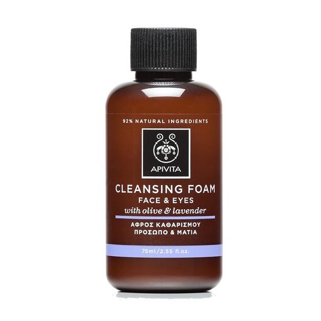 Apivita Cleansing Foam Face & Eyes With Olive & Lavender Αφρός Καθαρισμού για Πρόσωπο & Μάτια με Ελιά & Λεβάντα 75ml