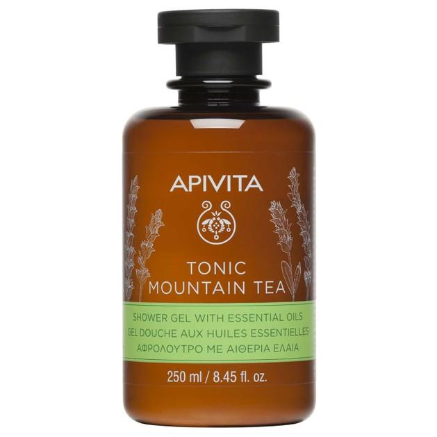 Apivita Tonic Mountain Tea Shower Gel With Essential Oils Αφρόλουτρο με Αιθέρια Έλαια για Τόνωση της Διάθεσης 250ml