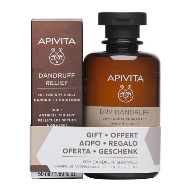 Apivita Πακέτο Προσφοράς Dandruff Relief Oil 50ml & Δώρο Dry Dandruff Shampoo With Celery & Propolis 250ml