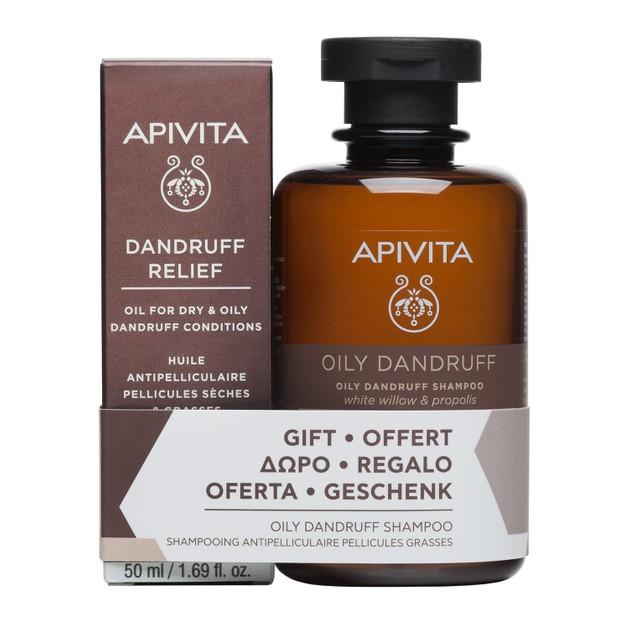Apivita Πακέτο Προσφοράς Dandruff Relief Oil 50ml & Δώρο Oily Dandruff Shampoo With White Willow & Propolis 250ml