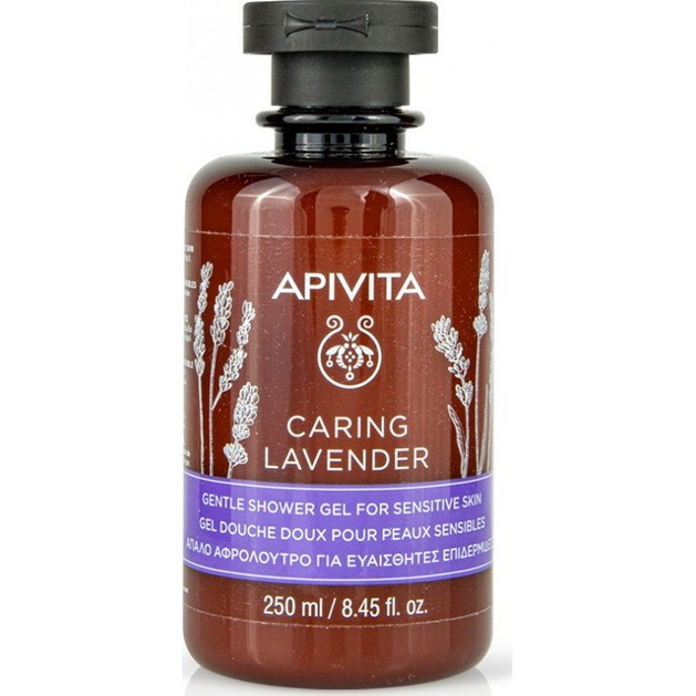 Apivita Caring Lavender Απαλό Αφρόλουτρο για Ευαίσθητες Επιδερμίδες 250ml