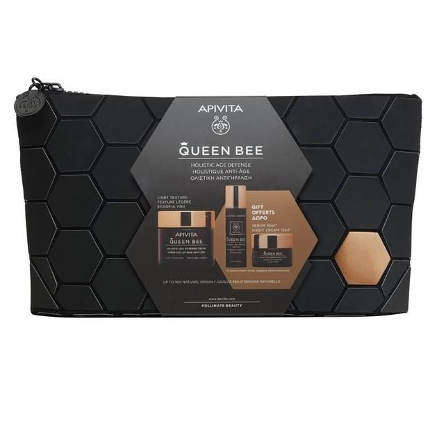 Apivita Promo Queen Bee Ολιστική Αντιγήρανση Κρέμα Ημέρας Ελαφριάς Υφής 50ml & Ορός 10ml & Κρέμα Νύχτας 15ml