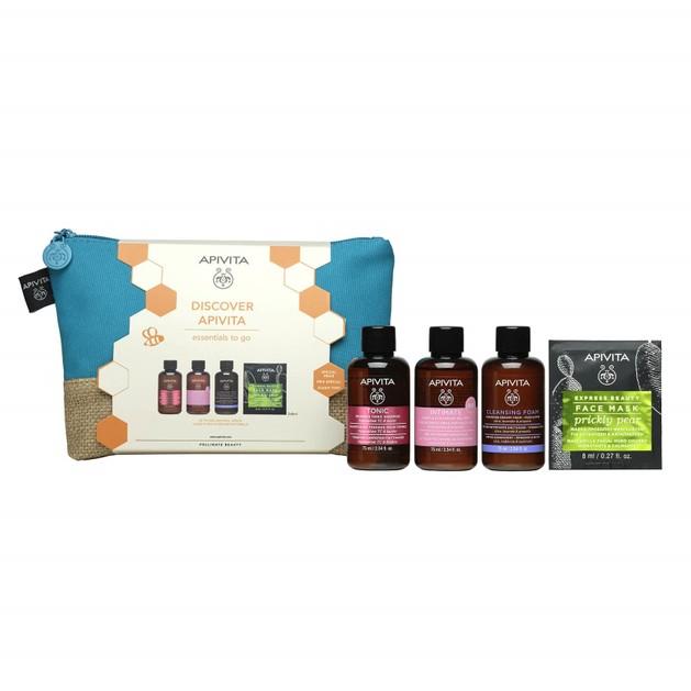 Apivita Promo Women\'s Tonic Shampoo 75ml & Intimate Cleansing Gel 75ml & Cleansing Foam 75ml & Face Mask Prickly Pear 2x8ml