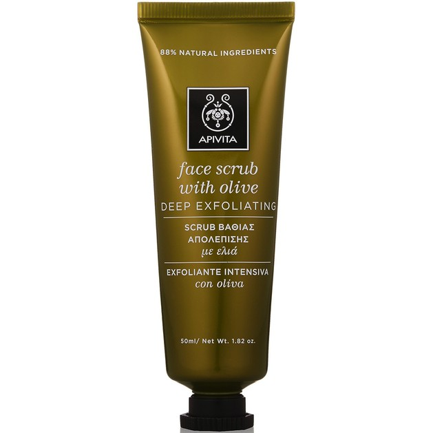 Face Scrub With Olive 50ml - Apivita
