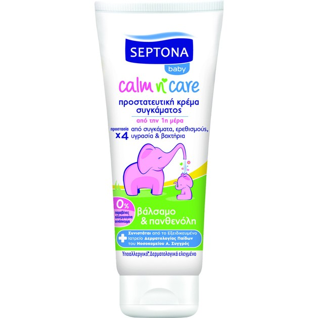 Septona Baby Calm n\' Care Προστατευτική Κρέμα Συγκάματος με Βάλσαμο & Πανθενόλη 100ml