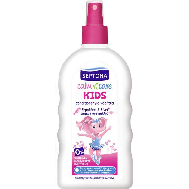 Septona Kids Calm n\' Care Conditioner για Κορίτσια που Ξεμπλέκει & Δίνει Λάμψη στα Μαλλιά 200ml
