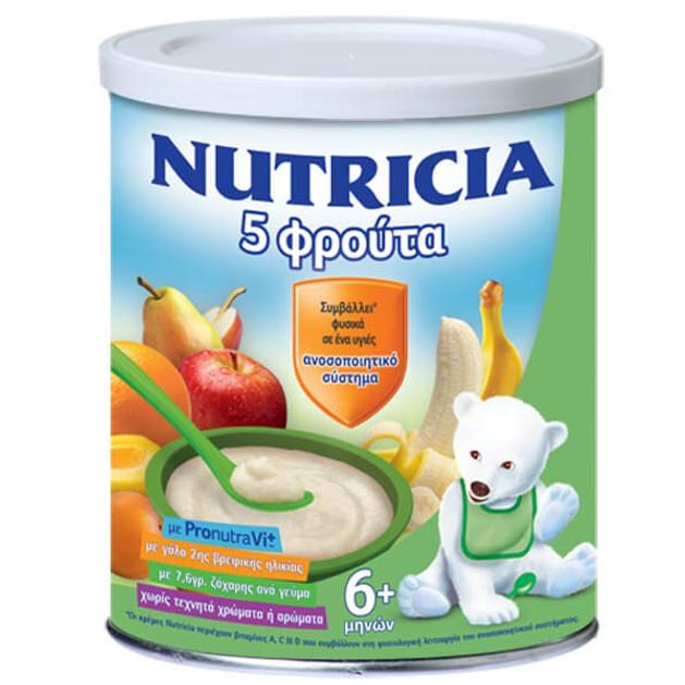 Nutricia Κρέμα 5 Φρούτα 6+ Μηνών 300gr