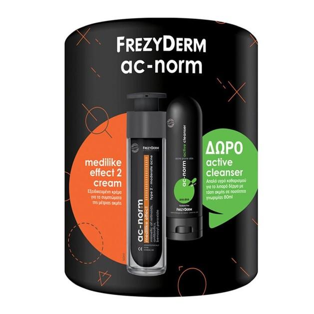 Frezyderm Πακέτο Προσφοράς Ac-Norm Medilike Effect Type 2 Cream 50ml & Δώρο Ac-Norm Active Cleanser 80ml