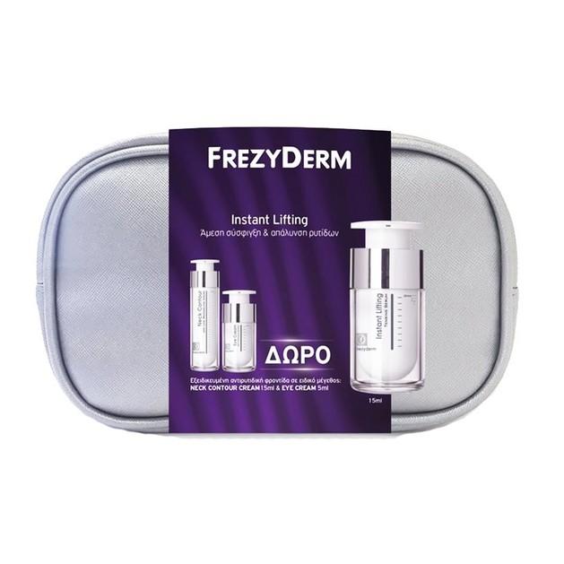 Frezyderm Πακέτο Προσφοράς Instant Lifting Serum 15ml & Δώρο Neck Contour Cream 15ml & Eye Cream 5ml