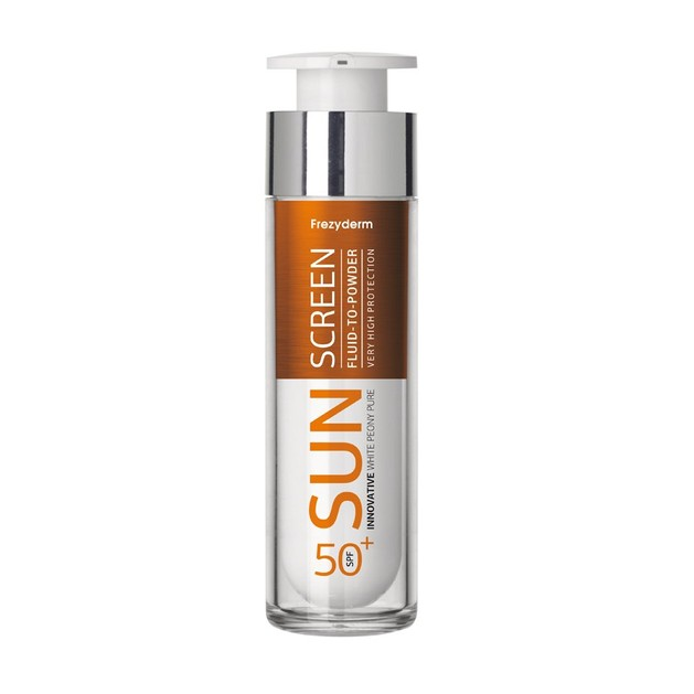 Frezyderm Sunscreen Fluid to Powder Spf50+ Αντηλιακή Προσώπου Λεπτόρρευστης Υφής Υψηλής Προστασίας με Πουδρένιο Φινίρισμα 50ml