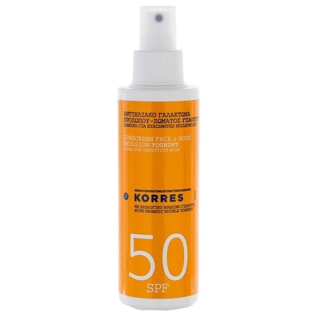 Korres Sunscreen Face & Body Emulsion Yoghurt Spf50, 150ml