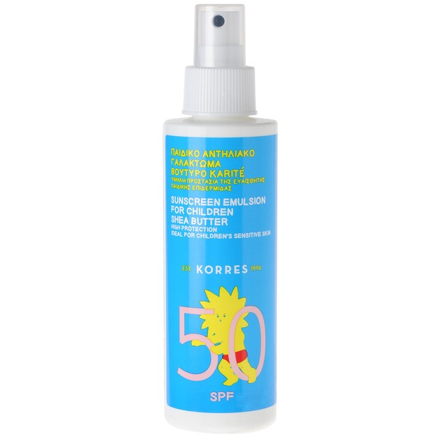Korres Sunscreen Emulsion for Children Shea Butter Spf50 150ml