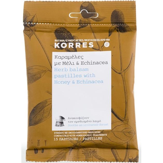 Korres Pastilles με Μέλι & Echinacea 15 Παστίλιες