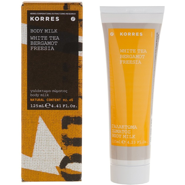 Korres White Tea Body Milk, Bergamot & Freesia 125ml
