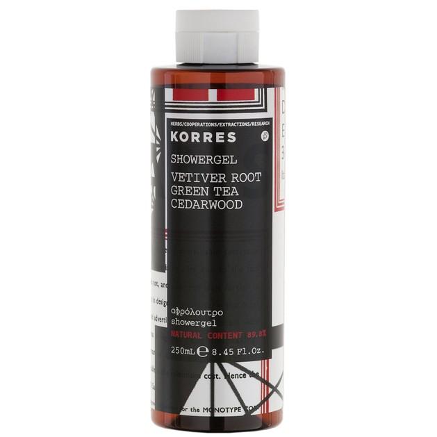 Korres Showergel Vetiver Root Green Tea Cedarwood 250ml